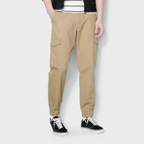 棉質工作束口褲-男