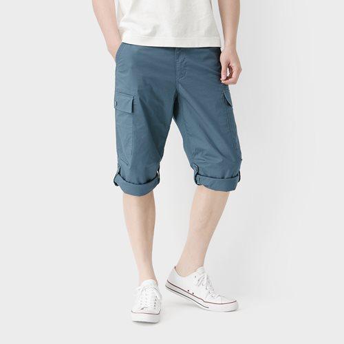棉質七分工作褲-男