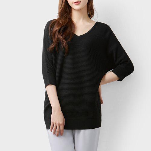 寬版連袖針織衫-女