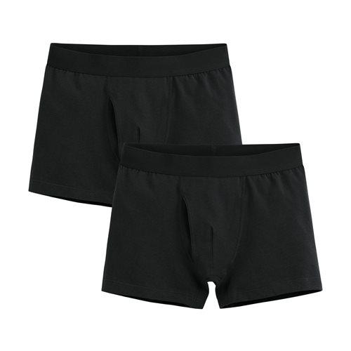 棉質平口內褲(2入)-男