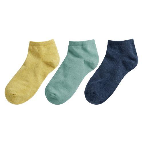 素色短襪(3入)-女