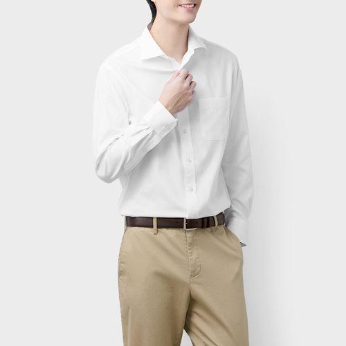 商務防皺長袖襯衫-男