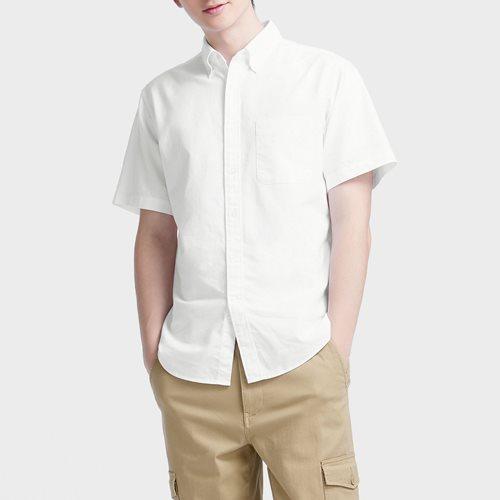 牛津短袖襯衫-男