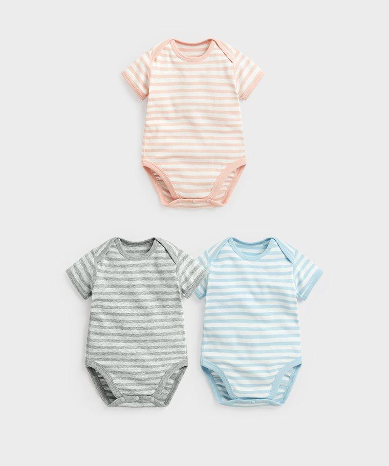 純棉羅紋條紋包臀衣-Baby