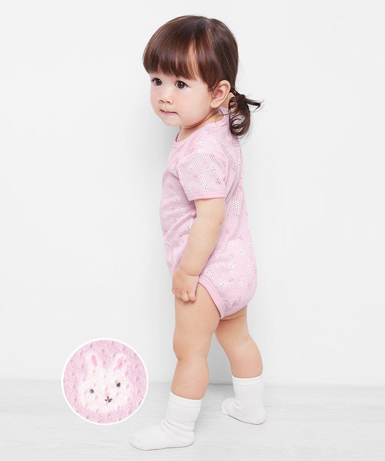 純棉網眼包臀衣(2入)-Baby
