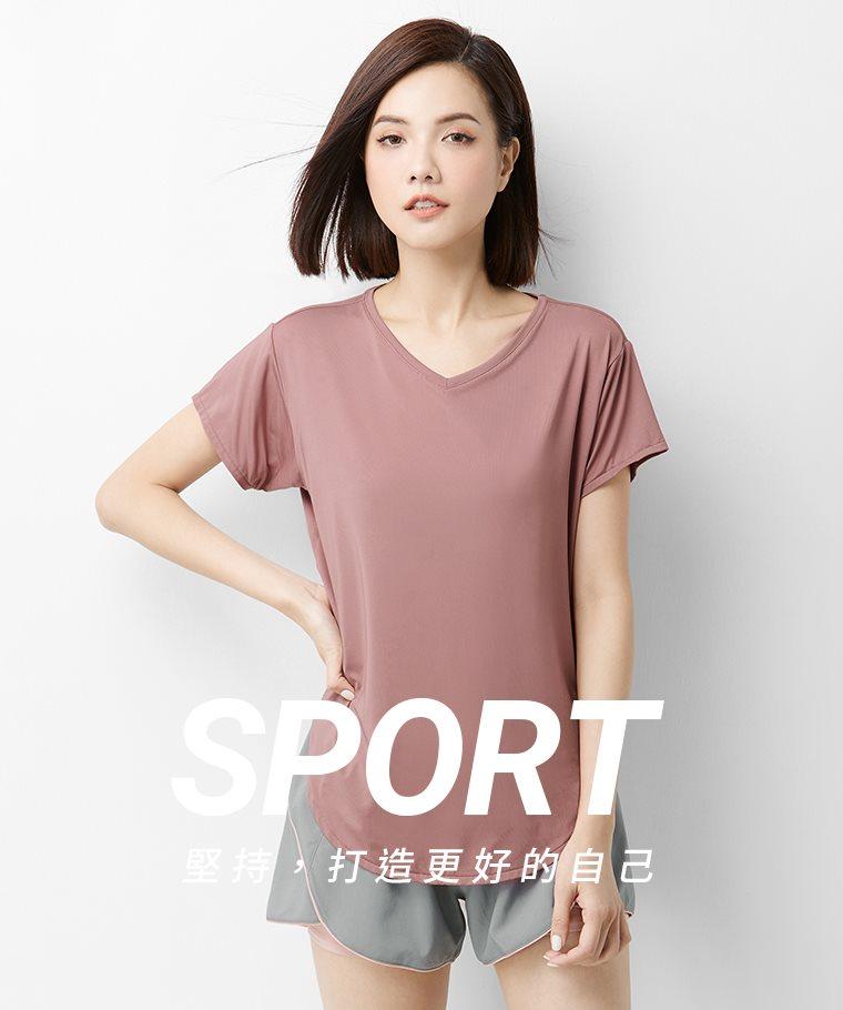 吸排寬鬆長版T恤-女