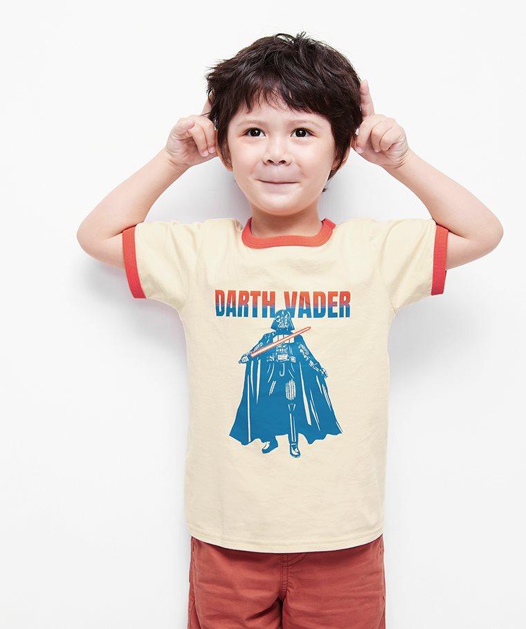 STAR WARS系列羅紋配色印花T恤-12-童