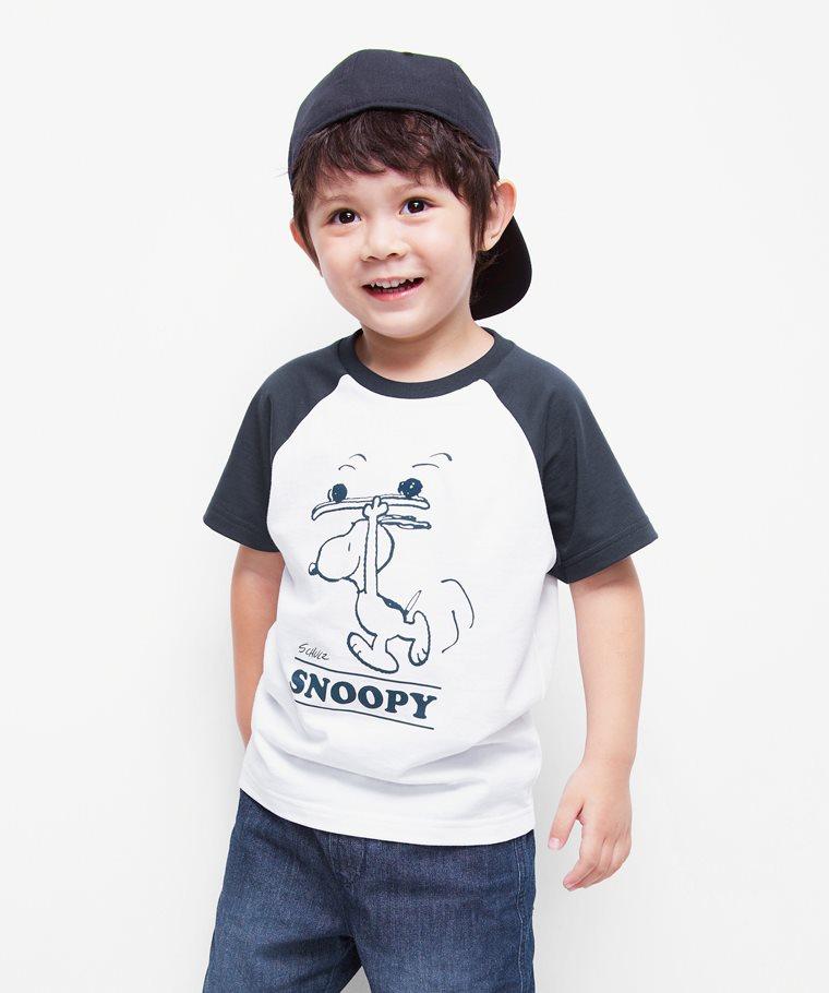 史努比系列拉克蘭印花T恤-21-童