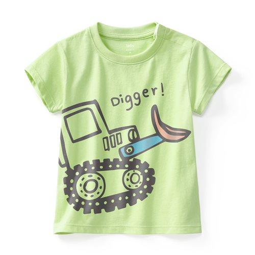挖土機印花T恤-Baby