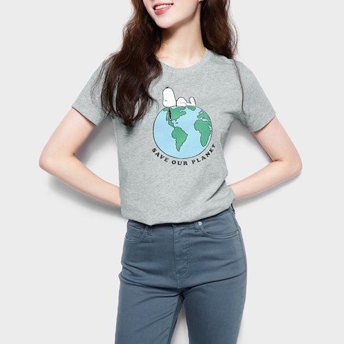 史努比系列印花T恤-04-女