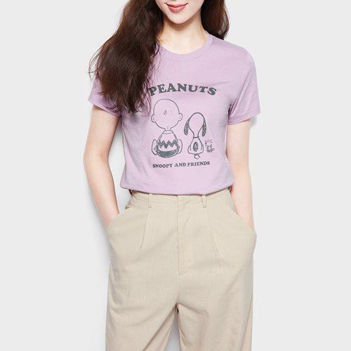 史努比系列印花T恤-05-女