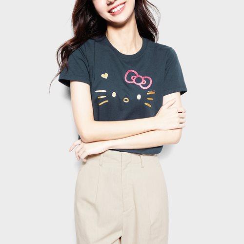Hello Kitty印花T恤-03-女