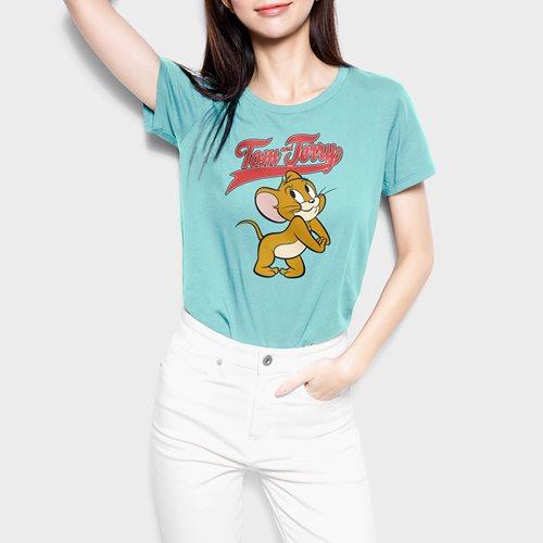 Tom & Jerry印花T恤-05-女