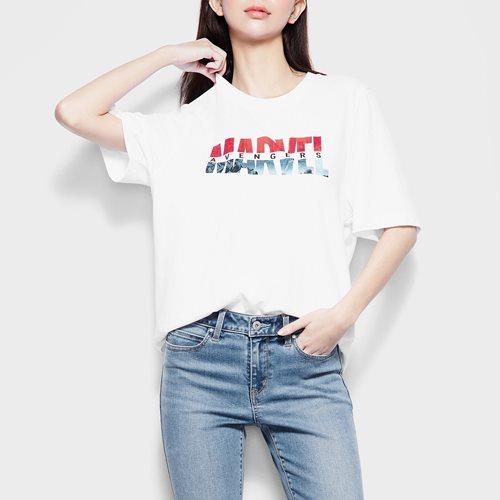 漫威系列寬版印花T恤-16-女