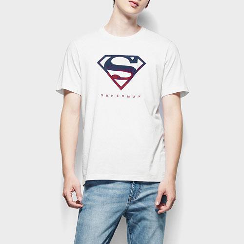 Superman印花T恤-02-男