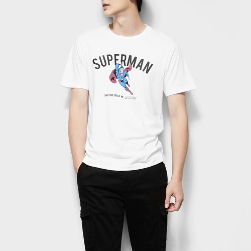 Superman印花T恤-03-男