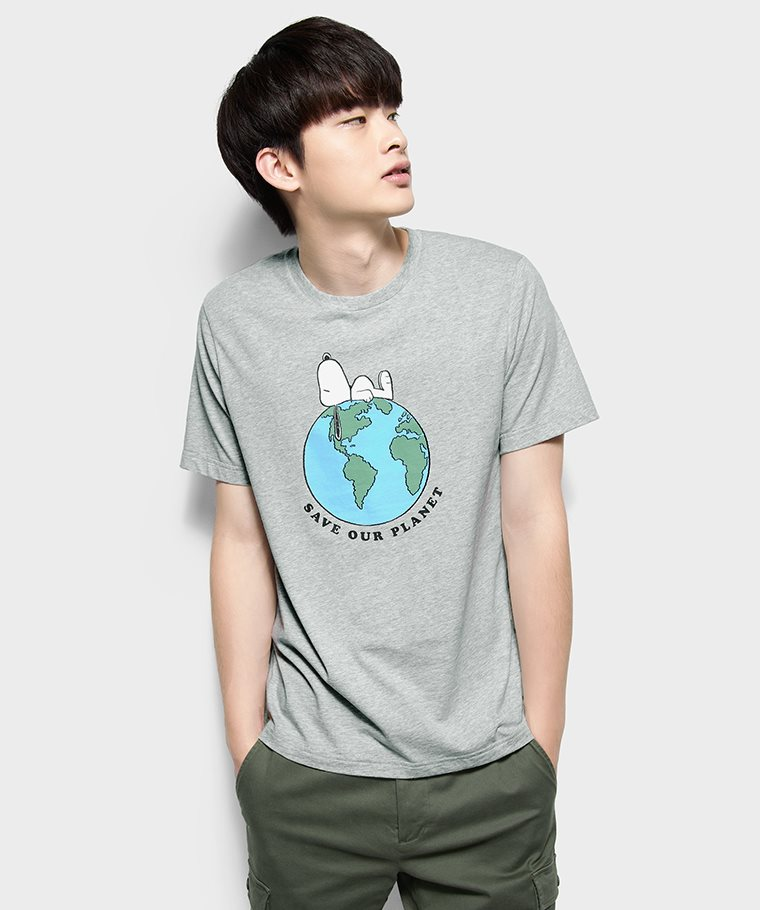史努比系列印花T恤-04-男