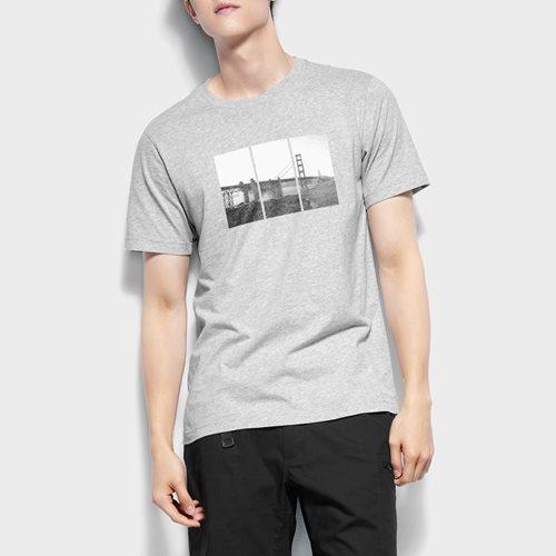 旅行回憶印花T恤-男