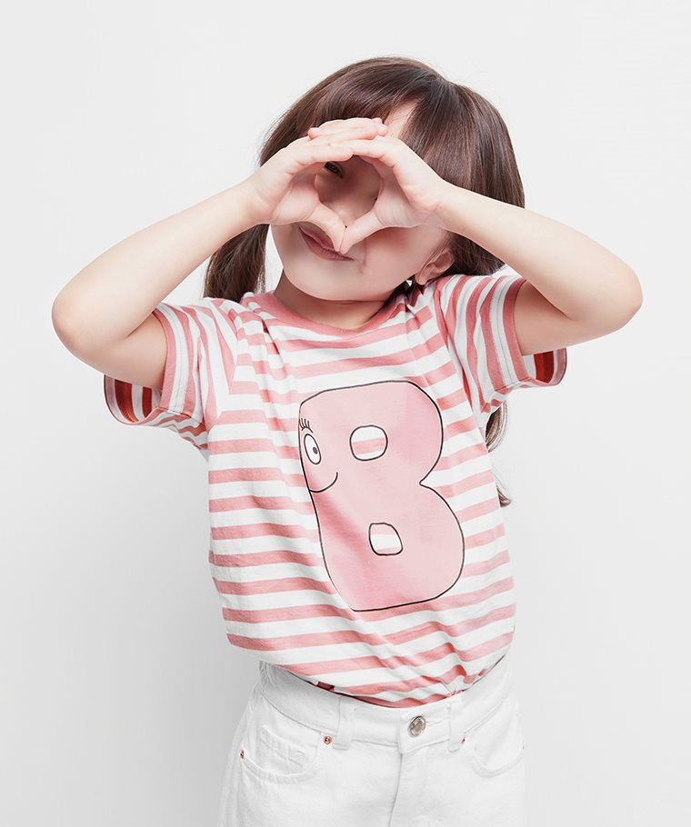 BARBAPAPA條紋印花T恤-08-童