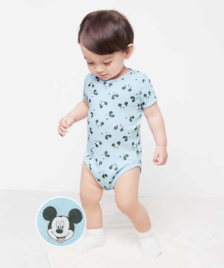 迪士尼系列純棉羅紋包臀衣-01-Baby