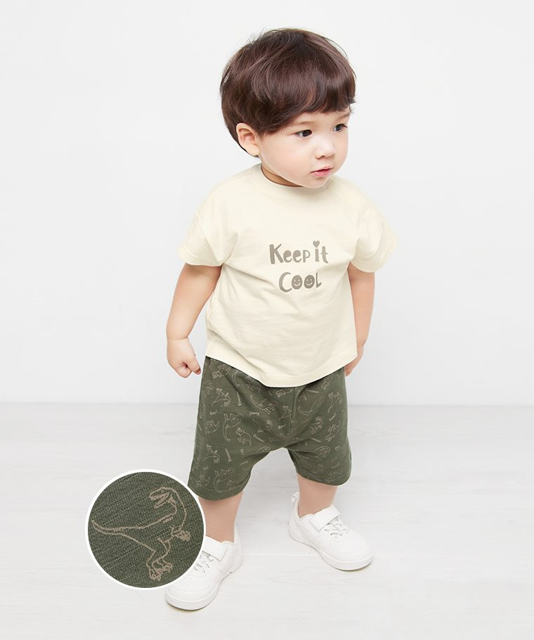 竹節棉印花短褲-02-Baby