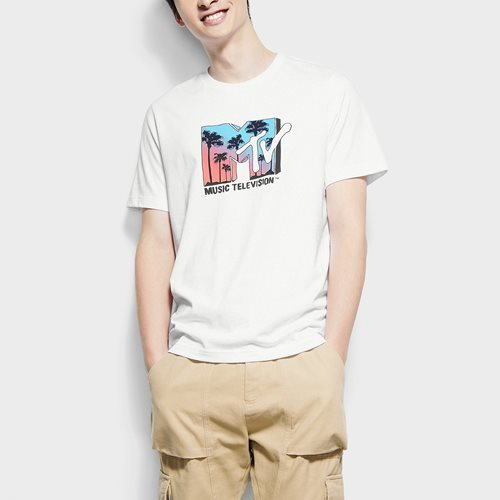 MTV印花T恤-03-男