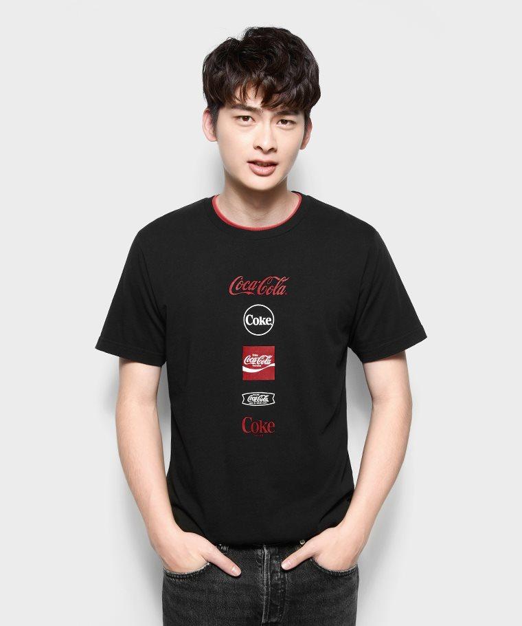 可口可樂印花T恤-08-男