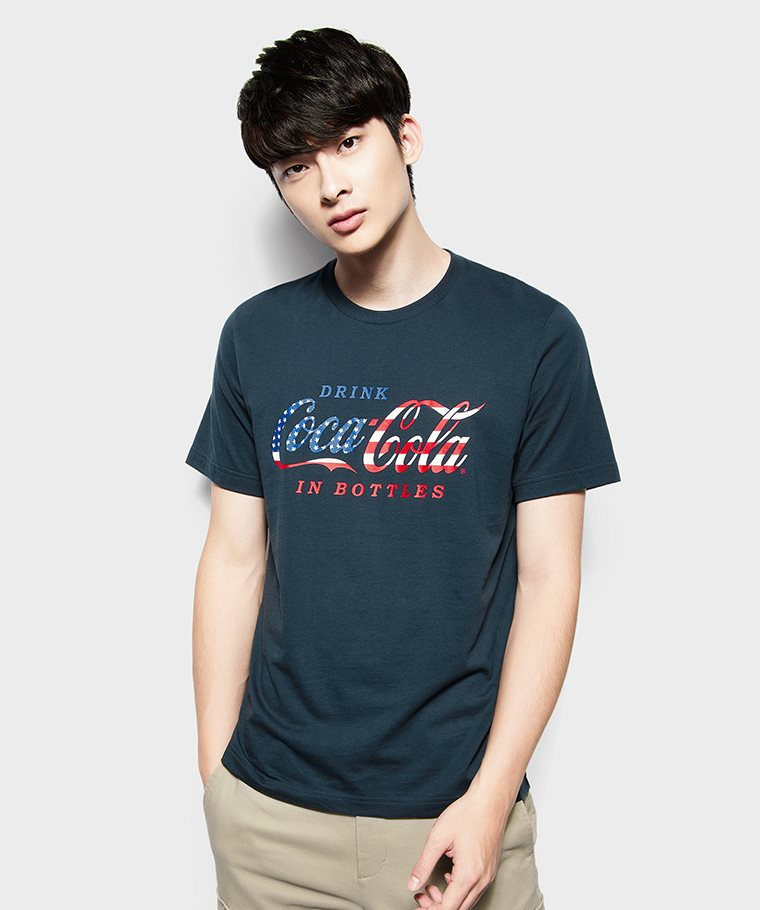 可口可樂印花T恤-09-男