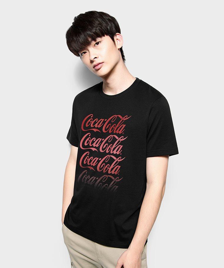 可口可樂印花T恤-11-男