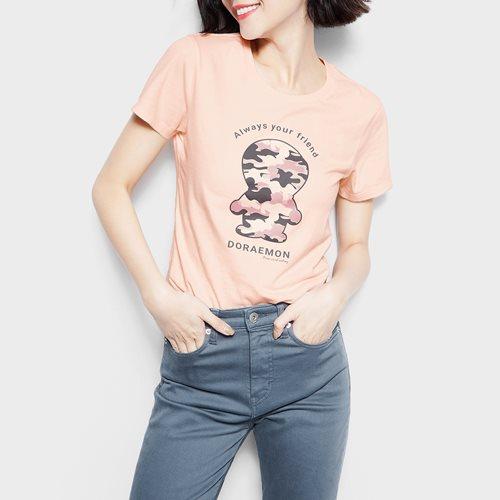 哆啦A夢印花T恤-05-女