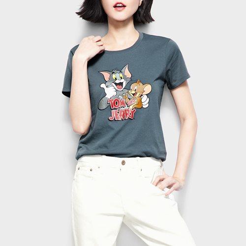Tom & Jerry印花T恤-06-女
