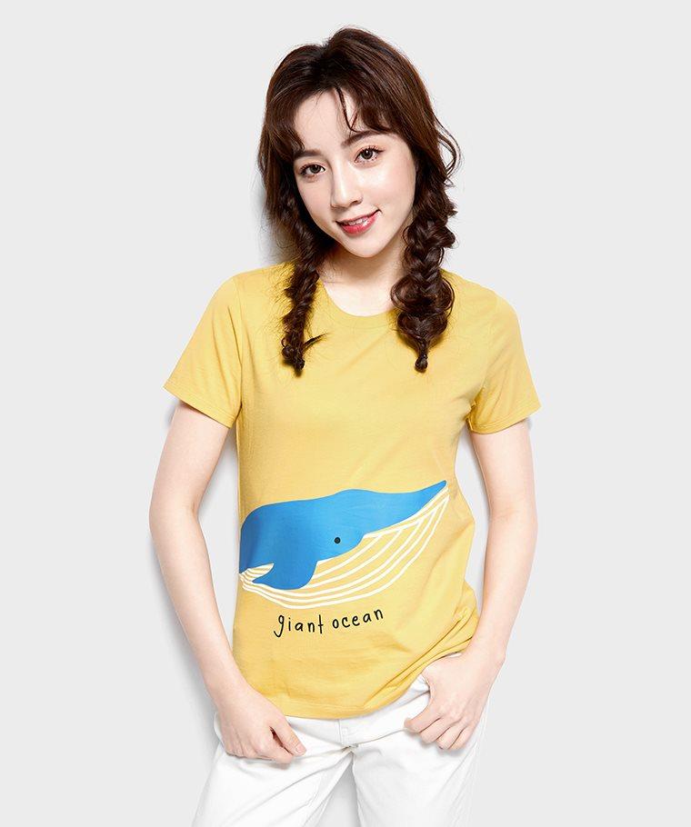 鯨魚印花T恤-女