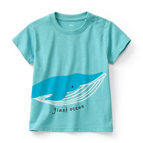 鯨魚印花T恤-Baby