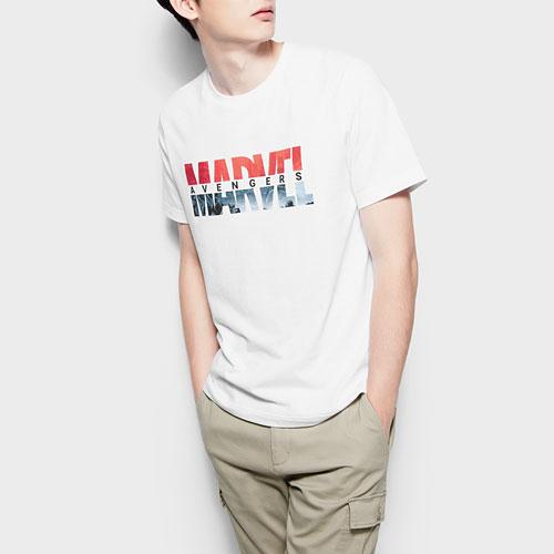 漫威系列印花T恤-16-男