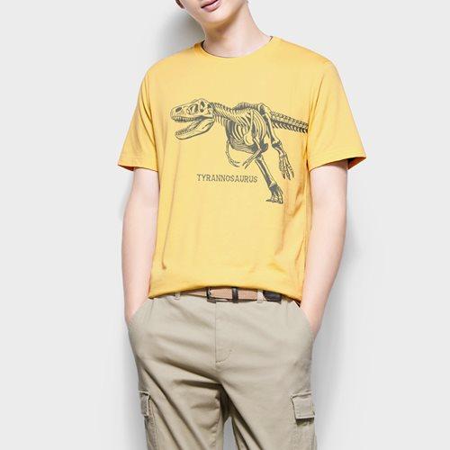Jurassic World印花T恤-09-男