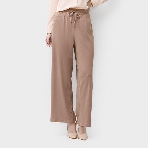 輕涼羅紋寬褲-女