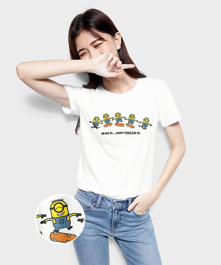 Despicable Me印花T恤-02-女