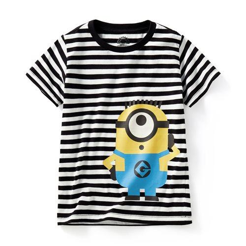 Despicable Me條紋印花T恤-10-童