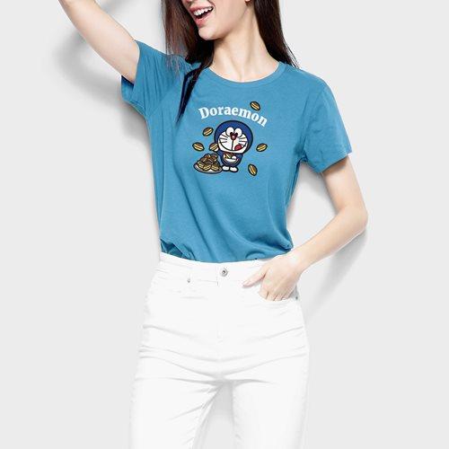 哆啦A夢印花T恤-19-女