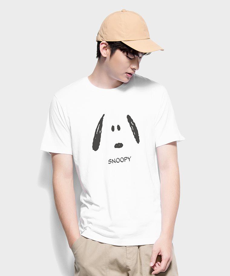 史努比系列印花T恤-17-男