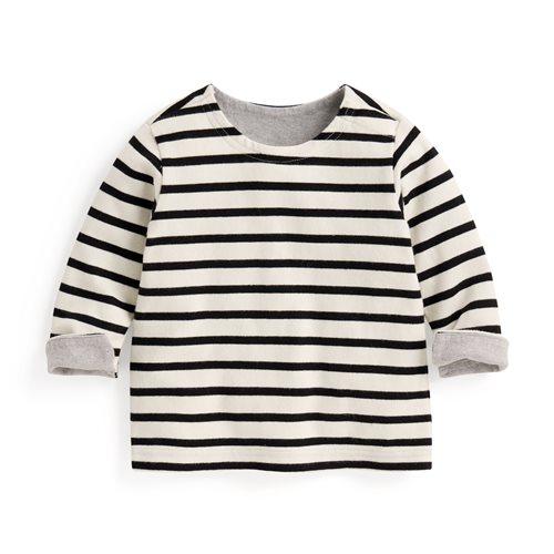 純棉粗紡條紋配色T恤-Baby