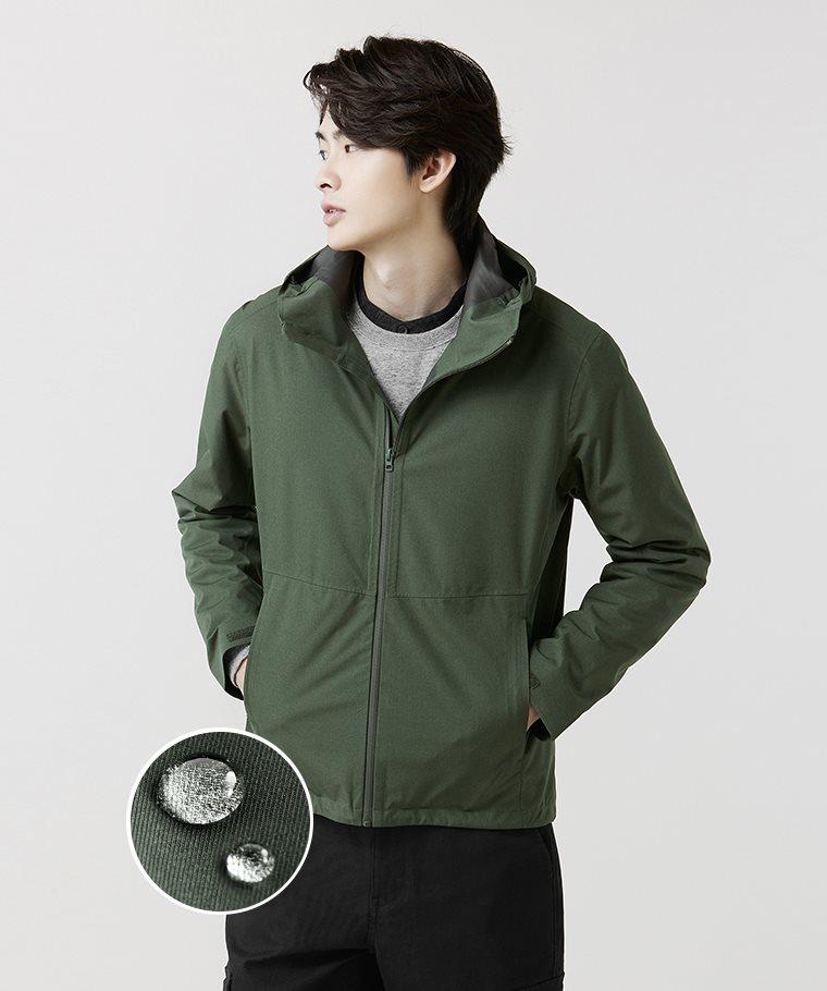 防水機能連帽外套-男