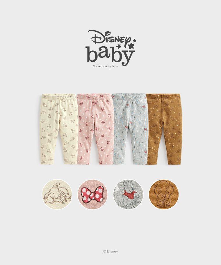 迪士尼系列彈力九分內搭褲-01-Baby