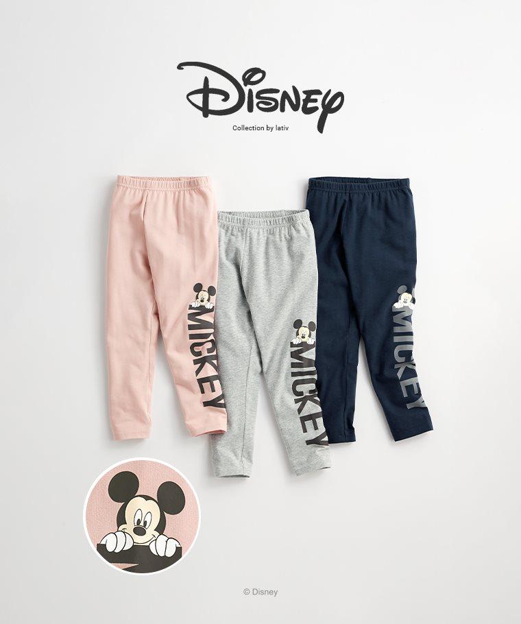 迪士尼系列彈力九分內搭褲-02-童