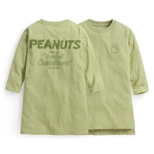 史努比系列竹節棉長版上衣-童