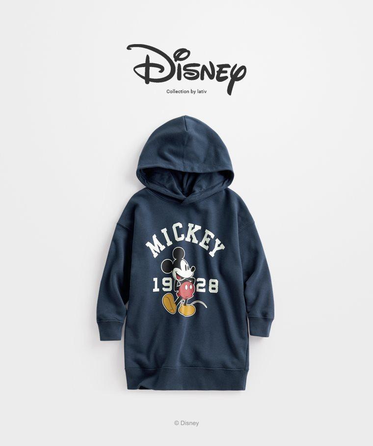 迪士尼系列毛圈長版連帽衫-08-童