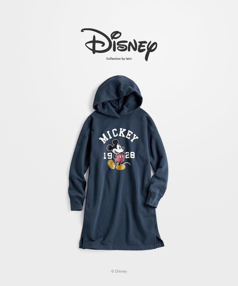 迪士尼系列刷毛長版連帽衫-08-女