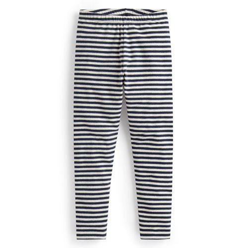 磨毛羅紋條紋內搭褲-童