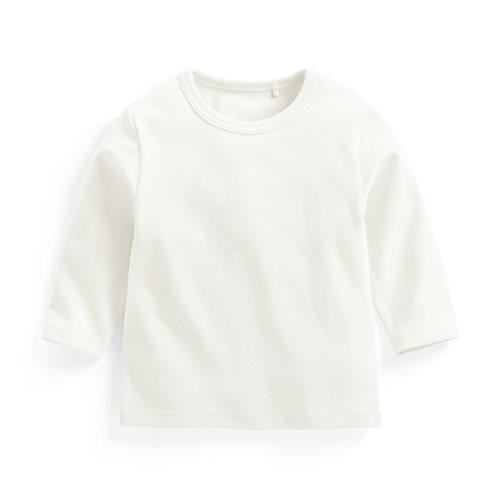 磨毛羅紋圓領長袖T恤-Baby