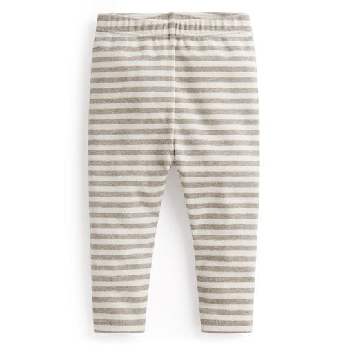 磨毛羅紋條紋內搭褲-Baby